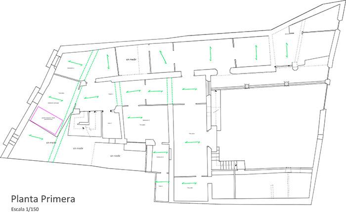 Casa Bosque - Plano planta primera